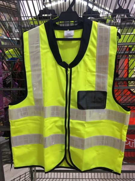 Safety Vest With Collar - Fluorescent Green Safety Vest Selangor, Malaysia, Kuala Lumpur (KL), Klang Supplier, Suppliers, Supply, Supplies   Standard Fashion Trading Sdn Bhd