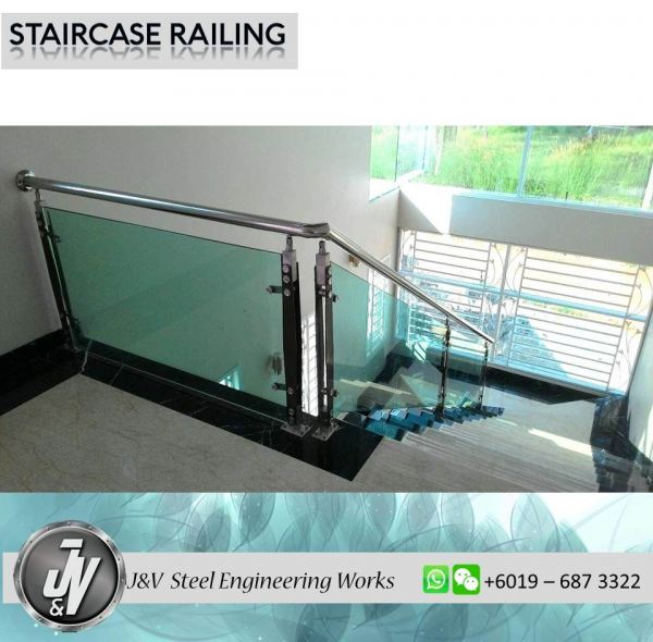 Staircase Railing Railing Melaka, Malaysia, Durian Tunggal Installation, Services, Supplier, Specialist | J & V Steel Engineering Works