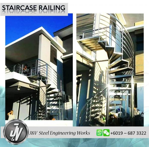 Staircase Railing Railing Melaka, Malaysia, Durian Tunggal Installation, Services, Supplier, Specialist   J & V Steel Engineering Works