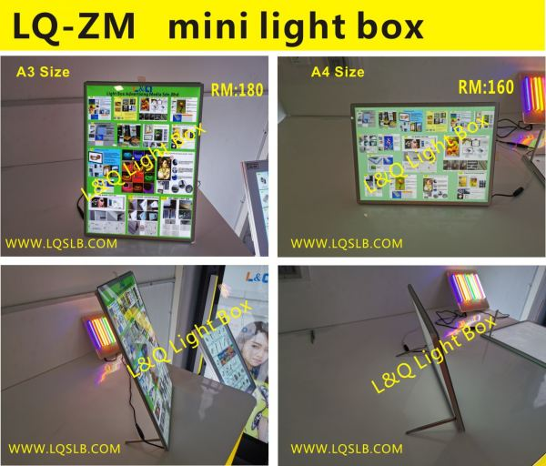 LQ-ZM Mini Light Box£¨standing) Menu Light Box  Malaysia, Selangor, Kuala Lumpur (KL), Balakong Manufacturer, Supplier, Supply, Supplies | L&Q Light Box Advertising Media Sdn Bhd