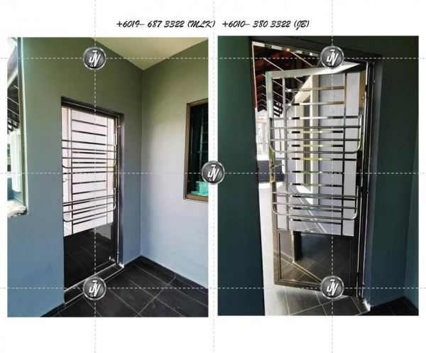 Stainless Steel Door  Grill Melaka, Malaysia, Durian Tunggal Installation, Services, Supplier, Specialist | J & V Steel Engineering Works