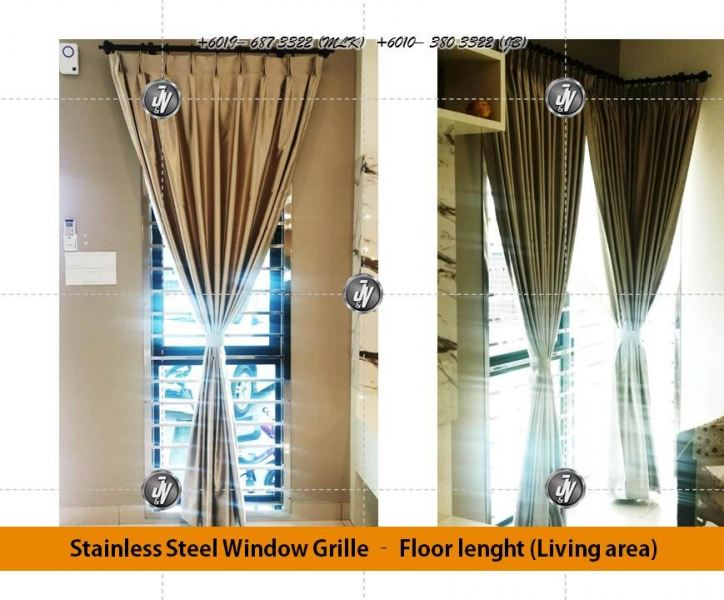 Stainless Steel Window Grill Melaka, Malaysia, Durian Tunggal Installation, Services, Supplier, Specialist | J & V Steel Engineering Works