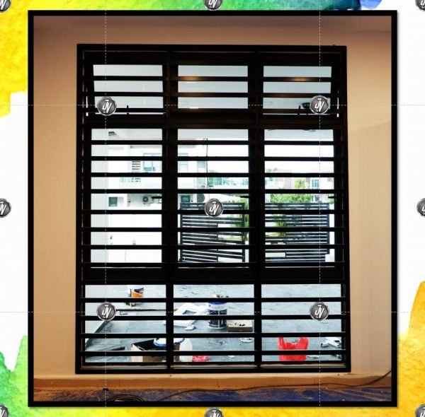 Mild Steel (Metal) Window Grill Melaka, Malaysia, Durian Tunggal Installation, Services, Supplier, Specialist | J & V Steel Engineering Works