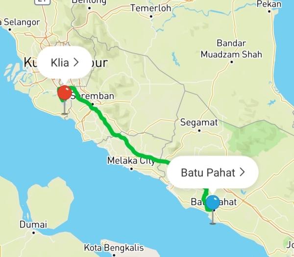 BATU PAHAT area Kuala Lumpur KLIA & KLIA 2 Transport Service Johor, Malaysia Services | Easygo Transport