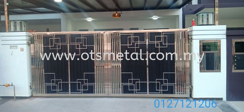 SSG036 Stainless Steel Gate Johor Bahru (JB), Skudai  Design, Supplier, Supply | OTS Metal Works