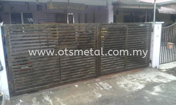 MMG015 Metal Main Gate (Grill) Johor Bahru (JB) Design, Supplier, Supply | OTS Metal Works