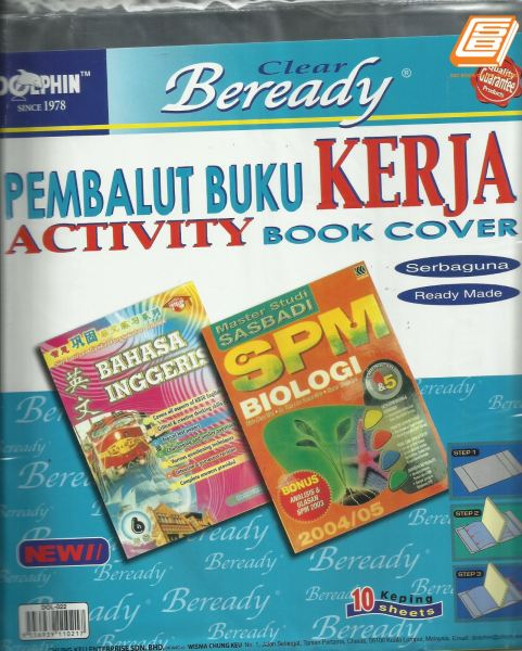 DOL -  Clear Activity Book Cover - (Dol-022) Book Cover Office & Desk Stationery Johor Bahru (JB), Malaysia, Taman Sentosa Supplier, Retailer, Supply, Supplies | SBC Book Centre Sdn Bhd