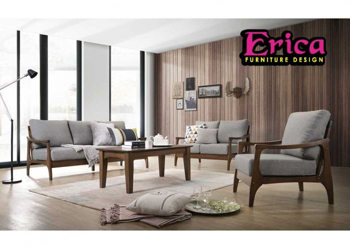 SOFA SET WITH COFFEE TABLE AND 1+2+3 SEATER
