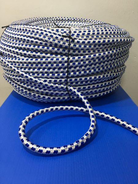 Braided Rope 12mm (Blue Dots)  Braided Rope Selangor, Malaysia, Kuala Lumpur (KL), Klang Supplier, Suppliers, Supply, Supplies | Standard Fashion Trading Sdn Bhd