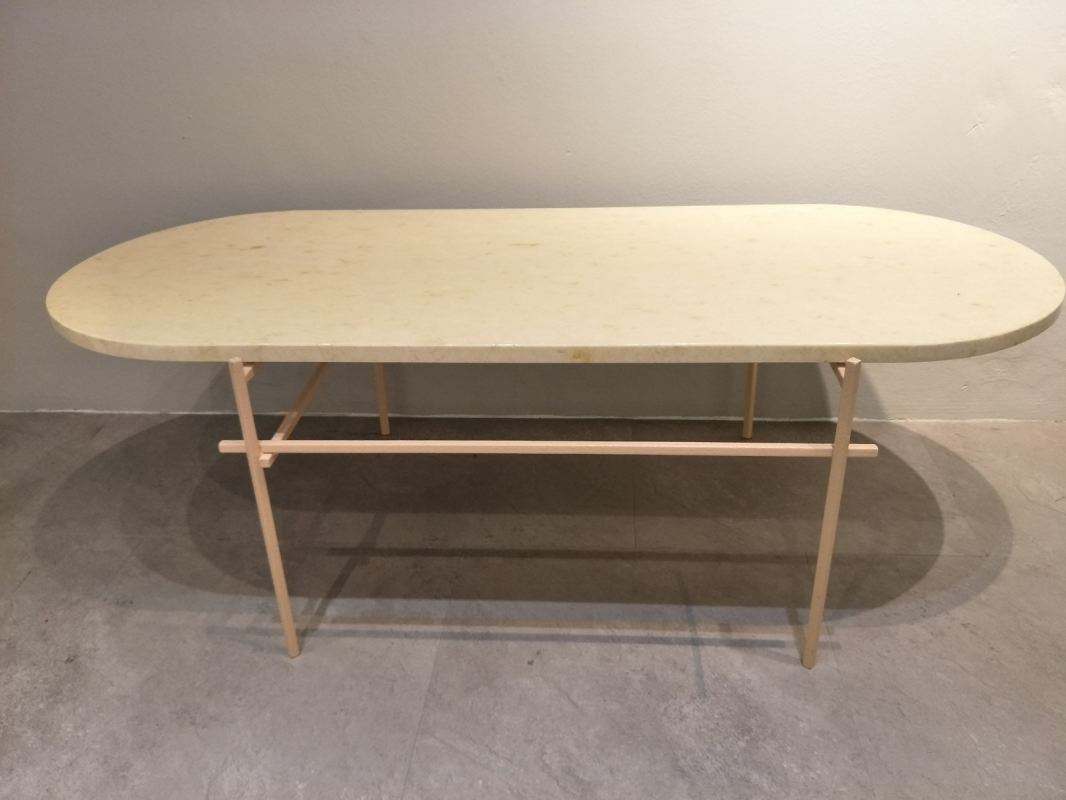 Marble Coffee Table - Honey Beige Marble