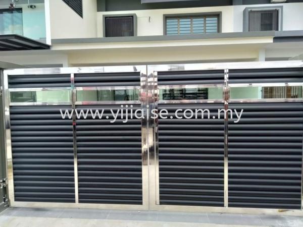 Open Gate Main Gate Metal Works (Grill) Johor Bahru (JB), Malaysia, Skudai, Taman Pelangi Service, Contractor | Yijia Iron Steel Engineering Sdn Bhd