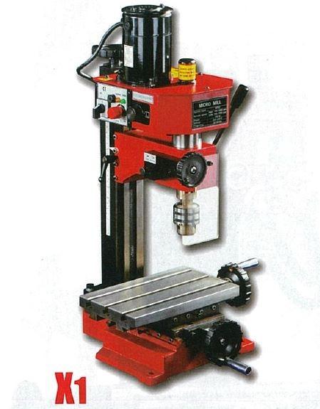 SIEG 10MM DRILLING ,10MM MT2  MILLING MACHINE 150W 230V W. XY TABLE CW STD ACCES, WT 32KG, MODEL X1