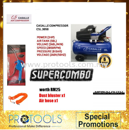 ITALY TECHNOLOGY CASALLE AIR COMPRESSOR CSL3050 3HP 50L - 6 MONTH WARRANTY FOC 2 THING! Casalle Air Compressors & Inflators Johor Bahru (JB), Malaysia, Skudai Supplier, Suppliers, Supply, Supplies | Protools Hardware Sdn Bhd