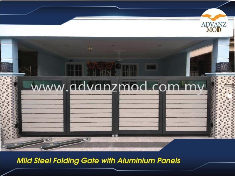 Mild Steel Gate With Aluminium Panel  Selangor, Malaysia, Kuala Lumpur (KL), Puchong Supplier, Supply, Supplies, Retailer | Advanz Mod Trading