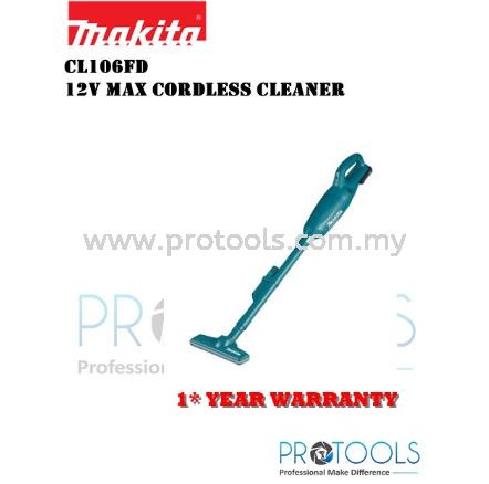MAKITA CL106FDWYW 12V CORDLESS CLEANER - 1 YEAR WARRANTY Makita Vacuum Cleaners Johor Bahru (JB), Malaysia, Skudai Supplier, Suppliers, Supply, Supplies   Protools Hardware Sdn Bhd