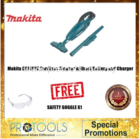 MAKITA DCL180Z CORDLESS CLEANER WITHOUT BATTERY & CHARGER SOLO Makita Vacuum Cleaners Johor Bahru (JB), Malaysia, Skudai Supplier, Suppliers, Supply, Supplies | Protools Hardware Sdn Bhd