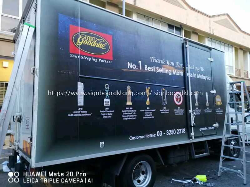 goodnite Truck lorry sticker at kapar klang  Truck Lorry Sticker Selangor, Malaysia Supply, Manufacturers, Printing | Great Sign Advertising (M) Sdn Bhd