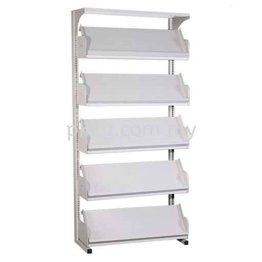 Single Sided Library Magazine Rack - 5 Shelves (A1-SSLM-5L-OP) Library Shelving Library Shelving / Library Equipment Steel Furniture Johor Bahru (JB), Malaysia Supplier, Manufacturer, Supply, Supplies | PK Furniture System Sdn Bhd