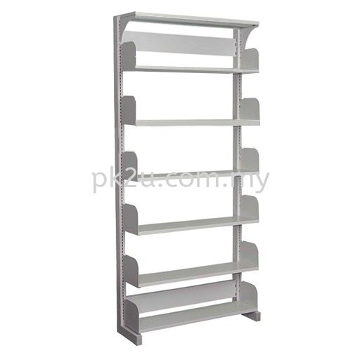 Single Sided Library Shelving - 6 Shelves (A1-SSLS-6L-OP) Library Shelving Library Shelving / Library Equipment Steel Furniture Johor Bahru (JB), Malaysia Supplier, Manufacturer, Supply, Supplies | PK Furniture System Sdn Bhd