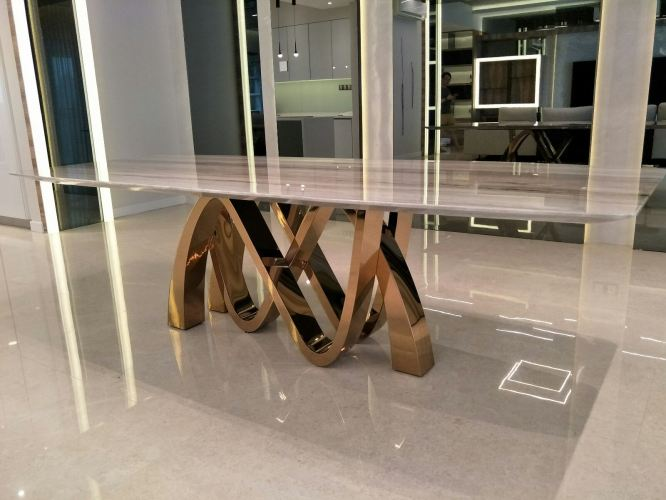 Modern Marble Dining Table - 10 seater