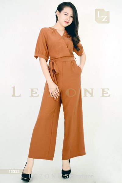 13333 V-NECK SLEEVE JUMPSUIT¡¾2ND 50%¡¿ Jumpsuit J U M P S U I T  /  S U I T S Selangor, Kuala Lumpur (KL), Malaysia, Serdang, Puchong Supplier, Suppliers, Supply, Supplies | LE ZONE Signature