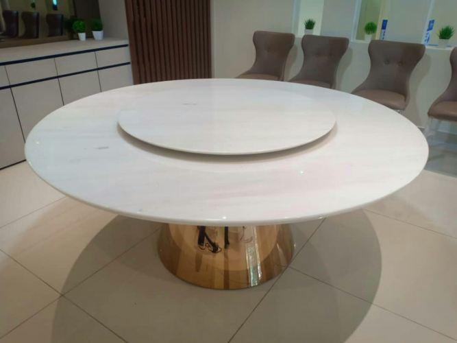 Modern White Marble Dining Table