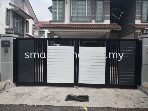 Fully Aluminium Gate(Glass Art) MY@Gate  Aluminium Gate Melaka, Malaysia Supplier, Supply, Supplies, Installation | SmartHome Technology Solution