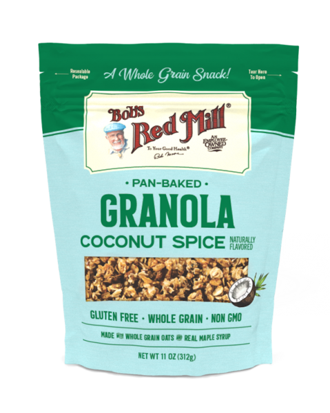 Pan-Baked Granola Coconut Spice Oats, Cereal and Granola Bobs Red Mill Malaysia, Selangor, Kuala Lumpur (KL) Distributor, Wholesaler, Supplier, Supply | Ballun Distribution (M) Sdn Bhd