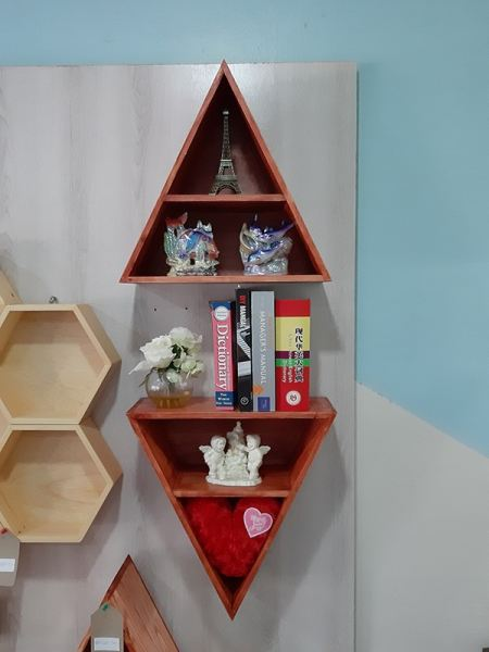 Triangle Shelf Wall Shelf Malaysia, Negeri Sembilan, Seremban Supplier, Suppliers, Supply, Supplies | Samson Woodworks