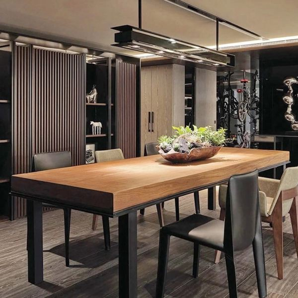 [180 x 80 cm] Titus Design 5 cm Thick Solid Rubber Wood Dining Meeting Table Dining Set Kitchen Dining Malaysia, Selangor, Kuala Lumpur (KL) Supplier, Suppliers, Supply, Supplies | Like Bug Sdn Bhd