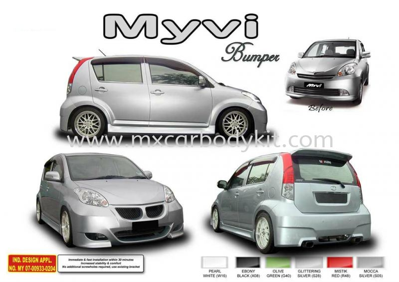PERODUA MYVI AM STYLE BUMPER KIT + SPOILER MYVI 2008 PERODUA Johor, Malaysia, Johor Bahru (JB), Masai. Supplier, Suppliers, Supply, Supplies | MX Car Body Kit