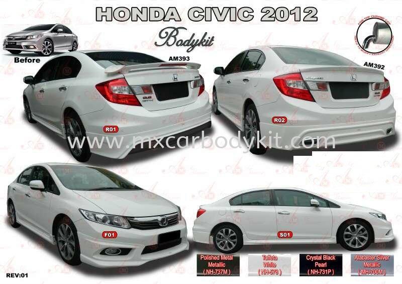 HONDA CIVIC 2012 AM STYLE BODYKIT CIVIC FB 2012 - 2015 HONDA Johor, Malaysia, Johor Bahru (JB), Masai. Supplier, Suppliers, Supply, Supplies   MX Car Body Kit
