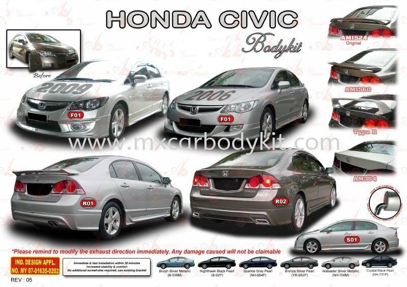 HONDA CIVIC 2006 / 2009 AM STYLE BODYKIT CIVIC FD 2006 - 2011 HONDA Johor, Malaysia, Johor Bahru (JB), Masai. Supplier, Suppliers, Supply, Supplies | MX Car Body Kit
