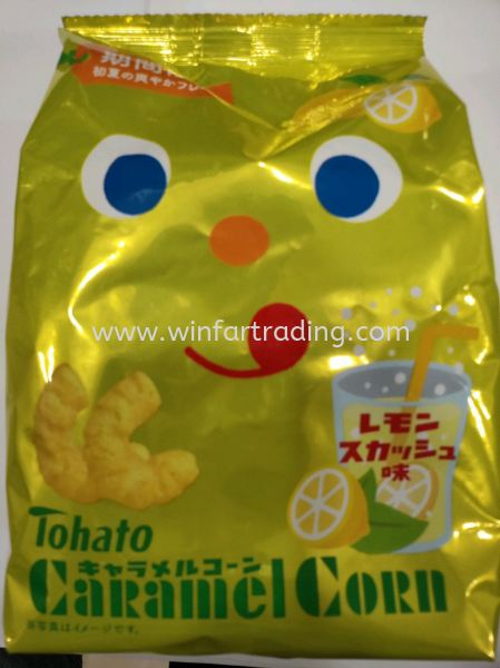 TOHATO CARAMEL CORN LEMON 77G Japan Snack Malaysia, Johor Bahru (JB), Masai Supplier, Supply   WIN FAR TRADING SDN BHD