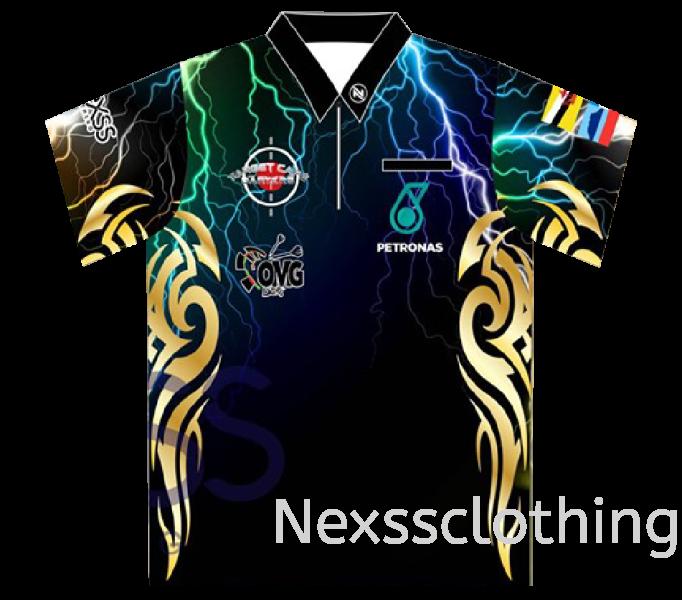 Nexss TeamJersey(HZ004) Haft Zip / Haft Button Darts Sport Shirt Kuala Lumpur (KL), Malaysia, Selangor, Kepong Jersey, Supplier, Supply | Nexss Marketing Sdn Bhd