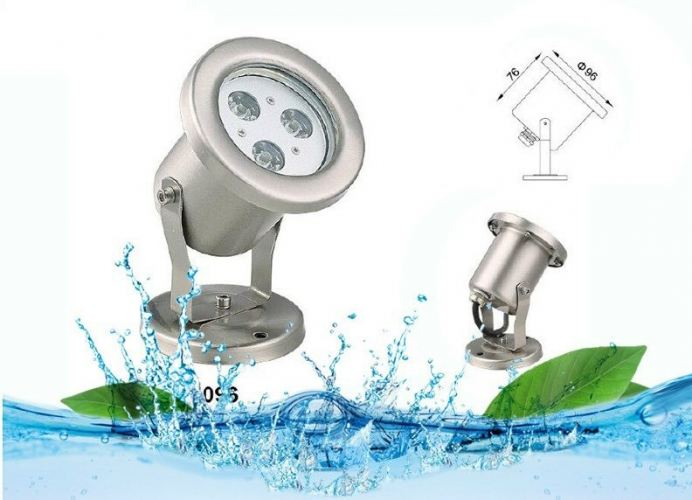 JL RF-SD85-3W HIGH QUALITY STAINLESS STEEL LED FOUNTAIN UNDERWATER POOL LIGHT