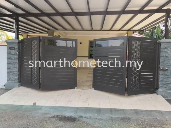 Fully Aluminium Gate(Glass Art) Others Melaka, Malaysia Supplier, Supply, Supplies, Installation | SmartHome Technology Solution