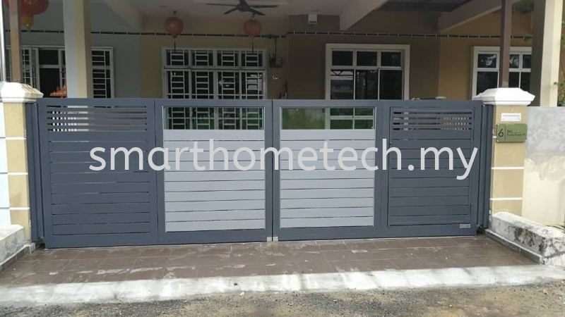 Fully Aluminium Gate(Glass Art) Others Melaka, Malaysia Supplier, Supply, Supplies, Installation | SmartHome Technology Solution