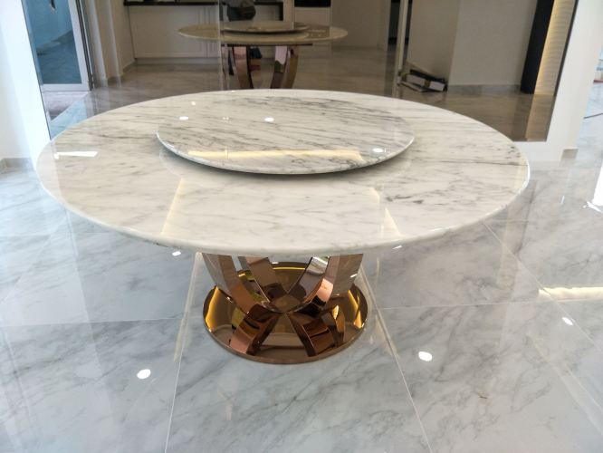 White Marble Dining Table For 8 Seater