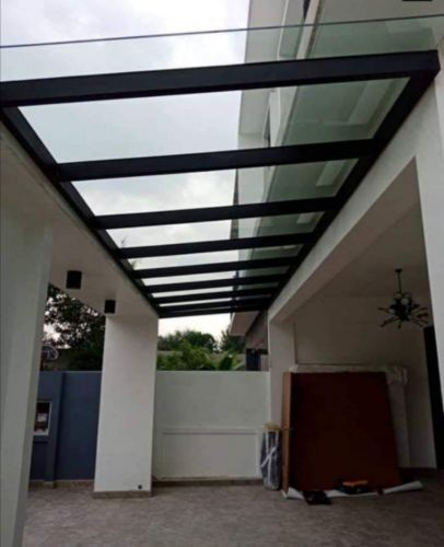 Installation tempered glass roofing