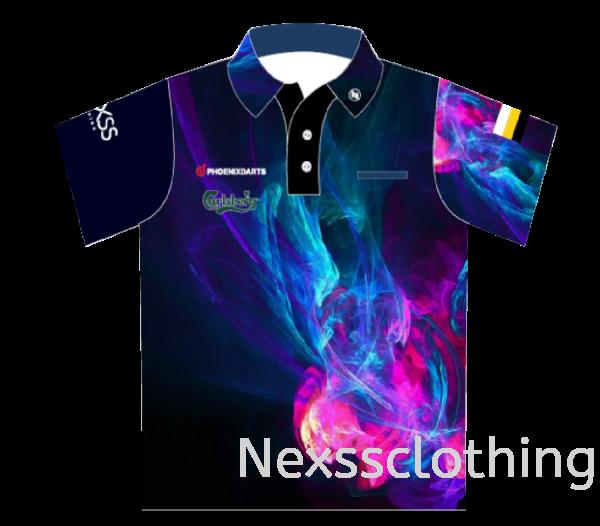 Nexss TeamJersey(HZ008)-01 Haft Zip / Haft Button Darts Sportswear Kuala Lumpur (KL), Malaysia, Selangor, Kepong Jersey, Supplier, Supply   Nexss Marketing Sdn Bhd