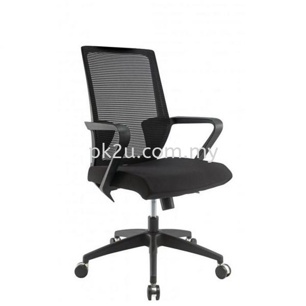 PK-BCMC-12-M-C1-Angle High Back Mesh Chair with Nylon Base Basic Mesh Chair Mesh Office Chairs Office Seating Johor Bahru, JB, Malaysia Manufacturer, Supplier, Supply | PK Furniture System Sdn Bhd