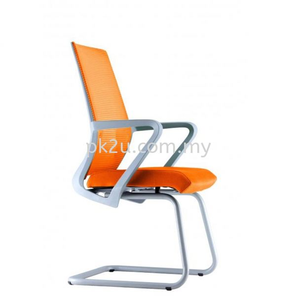 PK-BCMC-13-V-C1-ANGLE Visitor Mesh Chair with Grey Cantilever & Armrest  Basic Mesh Chair Mesh Office Chairs Office Seating Johor Bahru, JB, Malaysia Manufacturer, Supplier, Supply | PK Furniture System Sdn Bhd