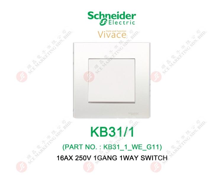 SCHNEIDER VIVACE KB31/1 SWITCH SWITCH ELECTRICAL Johor Bahru, JB, Johor. Supplier, Suppliers, Supplies, Supply | SCE Marketing Sdn Bhd