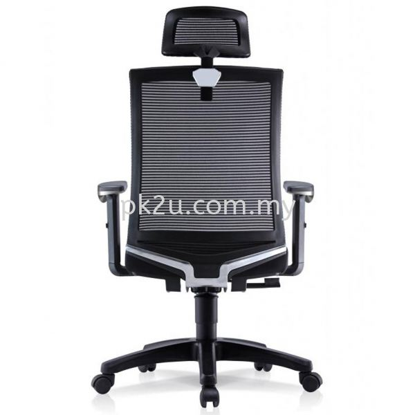 PK-BCMC-21-H-AA-C1-VIN High Back Mesh Chair with Adjustable Armrest Basic Mesh Chair Mesh Office Chairs Office Seating Johor Bahru, JB, Malaysia Manufacturer, Supplier, Supply   PK Furniture System Sdn Bhd