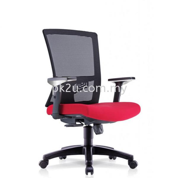 PK-BCMC-22-M-AA-C1-NISMO Mid Back Mesh Chair with Adjustable Armrest Basic Mesh Chair Mesh Office Chairs Office Seating Johor Bahru, JB, Malaysia Manufacturer, Supplier, Supply | PK Furniture System Sdn Bhd