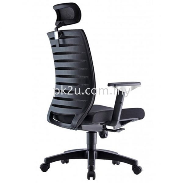 PK-BCMC-24-H-AA-C1-PRO High Back Mesh Chair with Adjustable Armrest Basic Mesh Chair Mesh Office Chairs Office Seating Johor Bahru, JB, Malaysia Manufacturer, Supplier, Supply | PK Furniture System Sdn Bhd