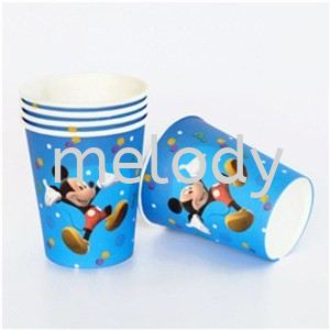 Paper Cup 10'S -Mickey  Paper cup  Tableware Party Supplies Kuala Lumpur (KL), Malaysia, Selangor, Petaling Jaya (PJ) Supplier, Rental, Manufacturer, Wholesaler | Melody Party Supply Sdn Bhd / Melody Costume Gallery