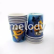 Paper Cup 10'S - Minion Paper cup  Tableware Party Supplies Kuala Lumpur (KL), Malaysia, Selangor, Kepong, Petaling Jaya (PJ) Supplier, Rental, Manufacturer, Wholesaler | Melody Party Supply Sdn Bhd / Melody Costume Gallery