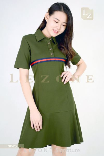 78523 SLEEVE RUFFLE DRESS¡¾2ND 50%¡¿ Dresses On Sale S A L E  Selangor, Kuala Lumpur (KL), Malaysia, Serdang, Puchong, Cheras Supplier, Suppliers, Supply, Supplies | LE ZONE Signature